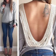 New Sexy Women's Long Sleeve O-neck Backless Tops Shirt Blouse