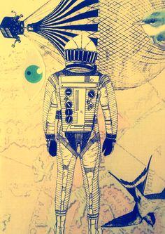 """""""No quiero tomar tierra, deseo quedarme en el aire""""  Collage por Zayrus Selector"""