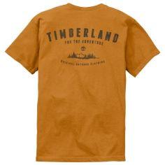 Men's Short Sleeve Mountains Back Print T-Shirt - Timberland