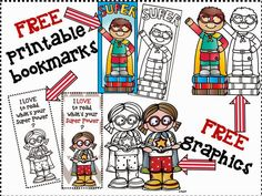Melonheadz Illustrating A SUPER awesome giveaway ! Darling reading bookmarks for teachers, limited time only. Superhero School, Superhero Classroom Theme, Classroom Themes, Superhero Ideas, Library Themes, Library Activities, Reading Activities, Library Ideas, Art Activities