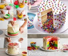 Pinata Cake Lots Of Ideas Easy Video Instructions Easy Cupcake Recipes, Homemade Desserts, Cookie Recipes, Dessert Recipes, Mousse Au Nutella, Homemade Pinata, Home Made Cupcakes, Girls First Birthday Cake, Pinata Cake