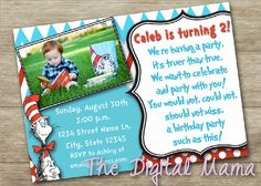 Hey, I found this really awesome Etsy listing at https://www.etsy.com/listing/251255874/dr-seuss-birthday-party-invitation-cat