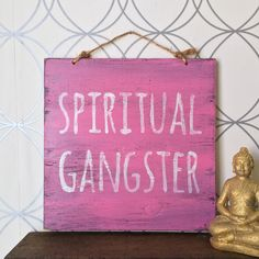 Spiritual Gangster Sign / Yoga Decor / Bohemian by HollyWoodTwine