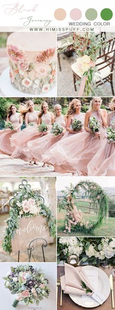 blush bridesmaid dresses greenery wedding dream wedding ideas wedding bridesmaids Top 10 Wedding Color Scheme Ideas for 2020 Blush Wedding Colors, Blush Wedding Cakes, Wedding Color Schemes, Blush Weddings, June Wedding Colors, Pink Wedding Theme, Sage Green Wedding, Burgundy Wedding, Blush Bridesmaid Dresses