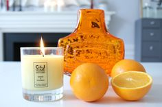 c and J candles . Orange & Patchouli my favourite