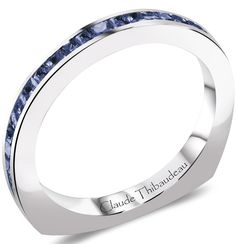 Claude Thibaudeau Interchangeable Blue Sapphire Wedding Band - Mesa Jewelers