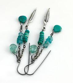 Authentique Bijoux Pierre Naturelle Turquoise 4 Rangée 8 mm Perle Brin Long Collier