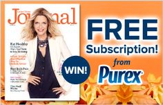Chickens, Bunnies, and Homeschool: Ladies' Home Journal Subscription Giveaway from Purex