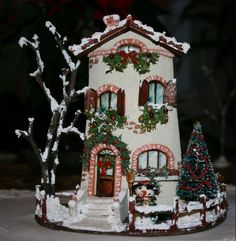 Christmas Town, Christmas Villages, All Things Christmas, Christmas Crafts, Tile Crafts, Decor Crafts, Diy And Crafts, Christmas Pebble Art, Gingerbread Crafts