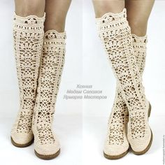 """giày handmade.  Thạc Fair - handmade.  Mua Boots dệt kim """"First Love"""" màu be.  Handmade.  khởi động dệt kim"""