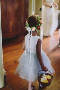 flower girl crown | Maile Lani #wedding