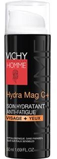 Vichy Homme Hydra Mag C+ Soin Hydratant Anti-fatigue 50ml - Pharmacie Lafayette - Hydratation