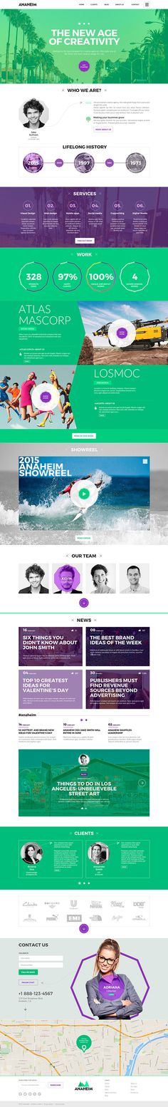 Anaheim | Creative template for agencies on Behance