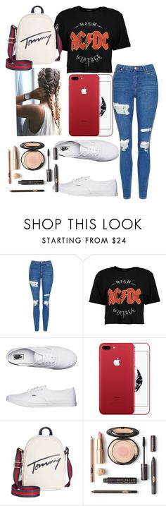 """Today is my jean day p.s I love that red phone"" by gabs129-1 on Polyvore featuring Topshop, Boohoo, Vans and Tommy Hilfiger"
