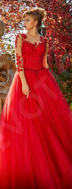 Elegant Tulle Evening dress Red. Holiday cocktail dress, Night Party Dress, Evening dress #affiliate #dress #dresses #partydress #cocktaildress
