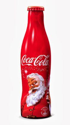 Coca-Cola Santa Claus Christmas Aluminum Bottle France 2013