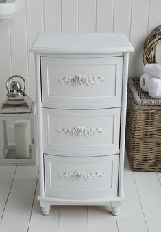 The White Lighthouse Bathroom Cabinets A Rose Cabinet With 3 Drawers For Storage Furniture Cottage Style Decor And Interiors
