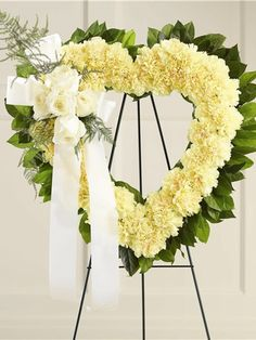 Looking for flower hearts or a funeral flower heart? Honor those you lost with a beautiful sympathy floral heart arrangement. We specialize in creating traditional flower heart arrangements for funeral, memorial, church services and the home. Funeral Floral Arrangements, Flower Arrangements, Funeral Flowers, Wedding Flowers, Wreaths For Funerals, Funeral Sprays, Funeral Tributes, Memorial Flowers, Cemetery Flowers