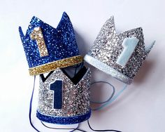 Ready Stock - 1st Birthday hat, gold hat, First Birthday Hat, photo props, silver, royal blue,navy ,Baby Boy Smash Cake Photo Prop