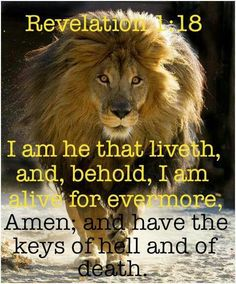 The Lion Of Judah~~he has the keys to Heaven and to Hell. Justice is right around the corner...