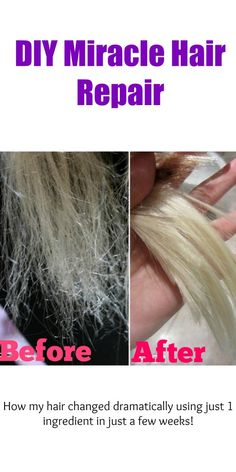 Healthy Tips This DIY miracle hair repair will save dry, broken, and damaged hair within just a week using only 1 ingredient! - This DIY miracle hair repair will save dry, broken, and damaged hair within just a week using only 1 ingredient! New Hair, Your Hair, Hair Health, Hair Oil, Diy Hairstyles, Latest Hairstyles, Blonde Hairstyles, Updo Hairstyle, Wedding Hairstyles