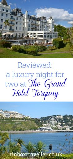 A review of dinner and accommodation at The Grand Hotel in Torquay, Devon, where we escaped for a child-free night. Plus it's family-friendly features Amazing Destinations, Holiday Destinations, Family Travel, Travel Uk, Travel Plan, Travel Tips, Day Trips Uk, Torquay Devon, Devon Holidays