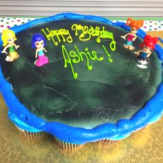 I didn't make this. But I had them make a trampoline cupcake cake for  my daughters party at an indoor trampoline arena.