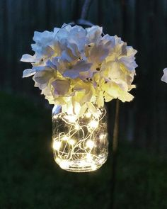 Hanging Mason jar 10 pack. What a fantastic way to line the aisles at a wedding or use these Mason jars as Centerpieces or with plant hooks to adorn a home garden. This can be either wedding or home decor. Absolutely adorable! These hanging Mason jars are perfect. Pair with our shepherds hooks for purchase under the Ru