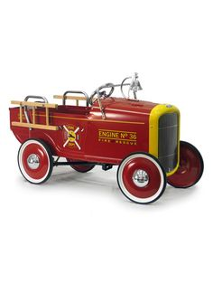 This is a *dream* nursery, so the $221 price tag is fine. ;)  Fire Engine by Warehouse 36 on Gilt.com