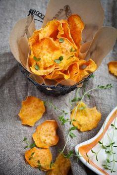 Cómo hacer chips de boniato #recetas #verduras #hortalizas                                                                                                                                                                                 Más
