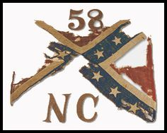 North Carolina battle flags | the flag of the 58 th nct of should i say remnants of two flags of the ...