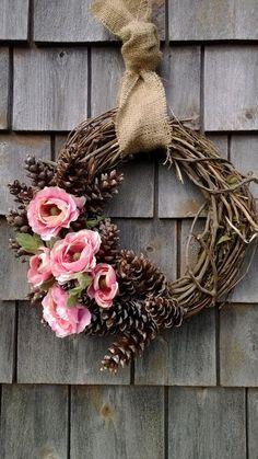 summer wreath, spring wreath,