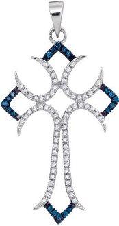 0.25CTW BLUE DIAMOND  PENDANT    http://www.qualitygemsandjewelry.com/025CTW-BLUE-DIAMOND-PENDANT-94839.htm