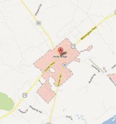 Map Of Holly Ridge, NC