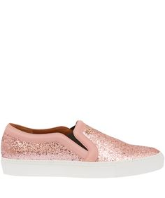 Givenchy Pink Glitter Leather Skate Shoes