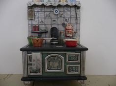 One Inch Scale Dollhouse Miniature Shabby Chic Stove