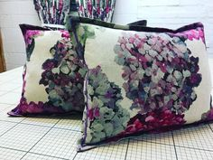 We finished the Oxford cushions to go with the Designers Guild Sudara curtains ready for a Christmas delivery