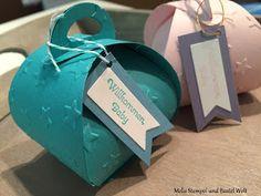 Stampin Up, Verpackung, Geschnek, Giftbox, Baby, Zierschachtel für Andenken, Glückssterne