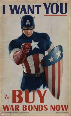 Captain America Says: I Want You to Buy War Bonds Now!