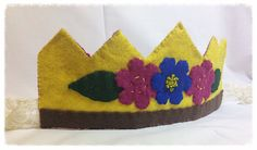 Waldorf Inspired Felt Flower Girl Birthday Crown by Spellingfelt