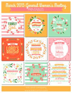March 2015 General Women's Meeting Printables {free printables}