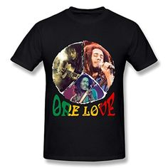 Bob Marley - Mens Rasta Leaves T-Shirt In Black - Brought to you by Avarsha.com