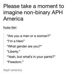 Hetalia USA non-binary