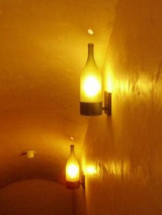 Wine Bottle Sconces...gorgeous! by Ms.B
