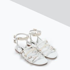 Image 2 of METAL PLATE FLAT SANDALS from Zara