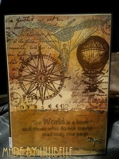 Lillibelle: Card *The world is a book*
