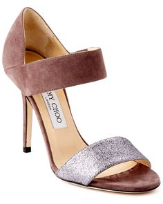 Spotted this Jimmy Choo Tallow Suede & Glitter Sandal on Rue La La. Shop (quickly!).