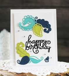 Happy Birthday #card by Laurie Schmidlin for #PaperSmooches