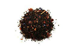 Framboise & Grenade. Un mélange de thé noir aux accents fruités, avec de la grenade, des framboises, de la baie de Goji et d'argousier ainsi que du guarana.