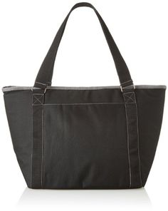 Picnic Time Topanga Insulated Cooler Tote, Black - Check this out at... http://outdoorlivingandpatioessentials.com/picnic-baskets/picnic-time-topanga-insulated-cooler-tote-black/